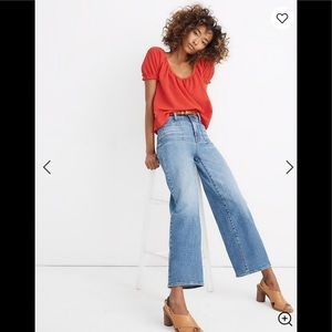 NEW Madewell Wide-Leg High Waist Crop Jeans